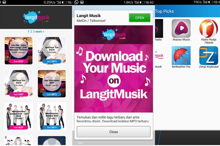 Photo of mengakses LangitMusik MP3 menggunakan BBM Shop