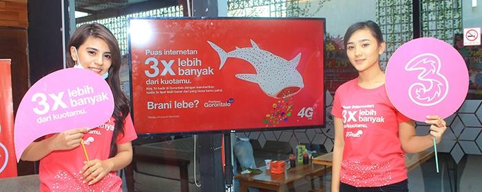 Photo of Berani Memberikan 3X Lebih Banyak, 4G LTE Tri Kini Hadir di Gorontalo
