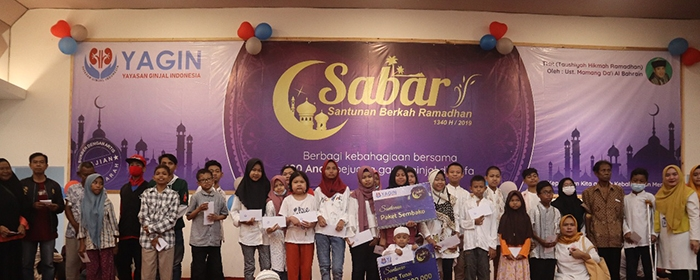 Photo of Yayasan Ginjal Indonesia (YAGIN) menggelar acara  SABAR – Santunan Berkah Ramadhan 1440H / 2019