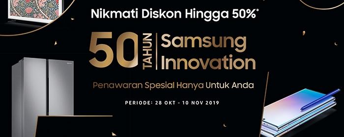 Photo of Menandai 50 Tahun Inovasi Samsung Beri Penawaran Khusus bagiKonsumen Setia di Indonesia